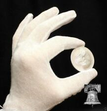 Inspection Glove Coin Silver Jewelry Stamps HEAVY DUTY White Cotton XL 3x Pair