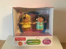"Fisher-Price Disney Princess - Little People Jasmine and Aladdin ""2013"" Set -NEW"