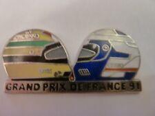 PIN'S VOITURES  F1 / AYRTON SENNA / ALAIN PROST / GD PRIX DE FRANCE  /   SUPERBE