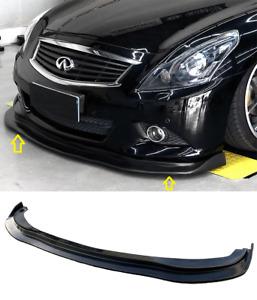For 10-13 G37 Sedan 4DR J Style PU Front Bumper Lip Body Kit Spoiler Chin