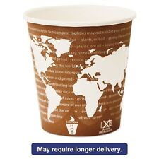 Eco-Products World Art Renewable & Compostable Wrapped Hot Cups - EPBHC10WAW