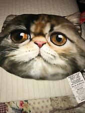 New With Tags Pet Faces Persian Cat Pillow Nice Soft Kitty Cat