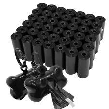 300/630 Black Dog Poo Bags Poop Waste Bag Dispenser Holder Scoop Pooper Scooper