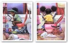 AFRICAN AMERICAN ART SET Thinker Puzzle Frank Morrison