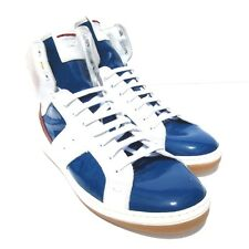 W-7310 New Fendi Electric Blue & White Sneakers Shoes Size US 10 UK 9