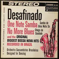 """""""Orchestra Saxsambistas Brasileiros"""" Desafinado / One Note Samba Vinyl Record LP"""