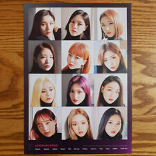 Loona Group Image Mini Poster Loonaverse Concert Official MD Monthly Girl Kpop