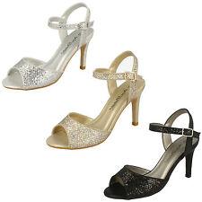 Ladies Anne Michelle Black,Gold,Silver Sparkle/Shimmer Evening Sandals - F10467