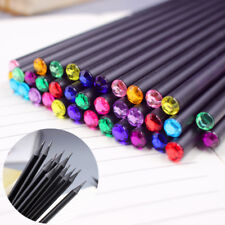 12Pcs Diamond Color Black Lead Pencil Stationery Drawing School Office Supply