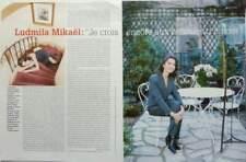 LUDMILA MIKAËL => COUPURE DE PRESSE 2 pages 1996 /  CLIPPING