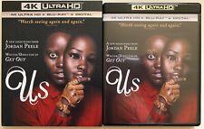 US 4K ULTRA HD BLU RAY 2 DISC SET + SLIPCOVER SLEEVE NEW NIGHTMARE JORDAN PEELE