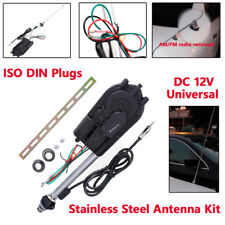 Car Universal AM/FM Radio Mast  Aerial Electric Power Automatic Antenna Trim Kit