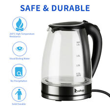 1.8L Electric Kettle Glass Tea Kettle Fast Boiling Auto Shut-off Blue Led Light