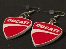 Orecchini Ducati Earrings in plexiglass riproduzione artigianale ROSSI