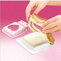 New Love Heart Shaped Sandwich Maker Cutter Bread Toast Making Mold Mould Mold