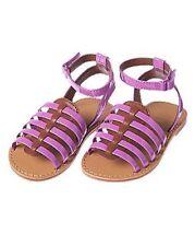 Crazy 8 Infant/Toddler Faux Patent Strappy Purple Sandals Sz 6 & 8 You Pick