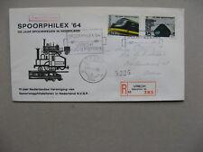 NETHERLANDS, event R-cover 1964, Spoorphilex Utrecht, Spec R-label