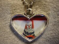 Pennywise Heart Style Clown Horror Necklace Novelty Stephen Kings It Jewelry