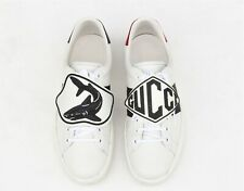 GUCCI Ace Shark Patch Mens Leather Sneaker Shoes UK 11 - US 12