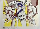 """Roy Lichtenstein 1984 Los Angeles Olympic Poster 24"""" x 36"""" Limited Edition"""