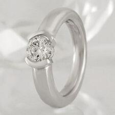 Markenlose Ringe solitäre Echtschmuck aus Weißgold für Damen
