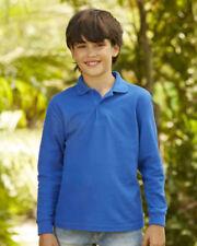 Abbigliamento a manica lunga in poliestere di polo per bambini dai 2 ai 16 anni