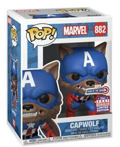Funko Pop Marvel Year of the Shield Capwolf Funkon 2021 PREORDER
