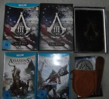 Nintendo Wii U Spiel Assassins 3 Creed III Box Join or Die Book 4 Black Flag IV