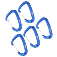 5pcs Ultralight 16KN Wire Gate Spring Snap D Carabiner for Climbing Caving