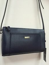 •Ralph Lauren Navy Blue Leather  Crossbody Messenger Bag Handbag