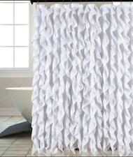 Waterfall Chic Ruffled Fabric Shower Curtain