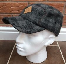 PAUL SMITH GREY CHECK WOOL BLEND TRUCKER CAP SIZE S/M