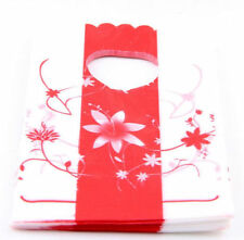 50Pcs Plastic Shopping/Gift Small Packing Bag 15x9cm
