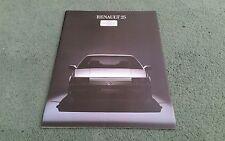 1984 RENAULT 25 UK BROCHURE + COLOUR CHART June 1984 TS GTS GTX V6i I.H WEIGHELL