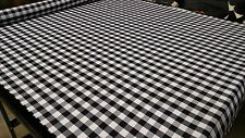 "TABLECLOTH CLASSIC CHECKERED BLACK FABRIC 62""W PREMIUM DURABLE SOFT MADE IN USA"