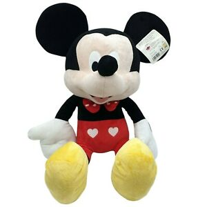 Original Disney Large Mickey Mouse with Hearts Plush Soft Toy New with Tag