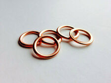Folded Copper Sump Plug Washers (x5) - 14x20x2 - Citroen, Fiat, Ford + More!