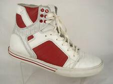 Supra Muska Skytop High Top Fashion Sneaker US 10 EU 44 Men Leather White Red