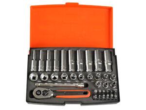Bahco SL25L Socket Set of 37 Metric 1/4in Deep Drive