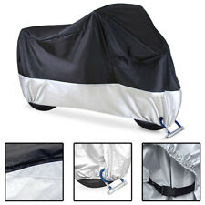 Heavy Duty Waterproof Motorcycle Cover 210T Chopper Dust Protector Anti-theft