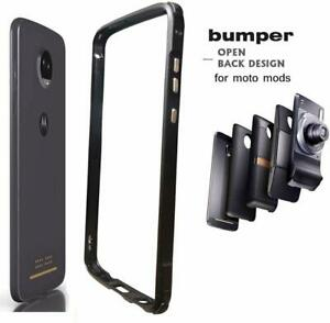 Moto Z4 Case Bumper,Compatible Moto Mods Dngn Luxury [Aluminum Metal Frame Cover
