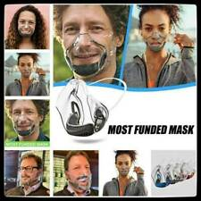 Durable  Face Shield Combine Transparent Face  Lip Reading Protector New