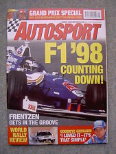 Autosport (1 Jan 1998) Gerhard Berger, H Frentzen, Dario Franchitti,Carl Fogarty