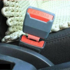 1 Pair Universal Gray Car Safety Seat Belt Buckle Clip Extender Alarm Stopper