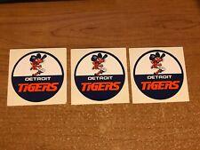 Lot (3) Rare Vintage Detroit Tigers Swinging Tiger Stickers Decals MLB Baseball