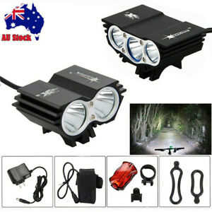 Bright Rechargeable LED Bike Bicycle Light Waterproof Cycle Front Headlight AU