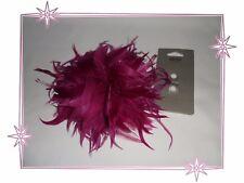 Fleur Plumes Pince à Cheveux Broche Fuchsia Ibero Neuve