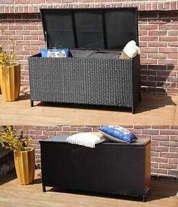 BIRCHTREE Garden Furniture Rattan Storage Box Woven Chest Patio Outdoor PE RSB01