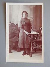 R&L Postcard: Edwardian Woman Girl in Dress, Sheffield Photographer