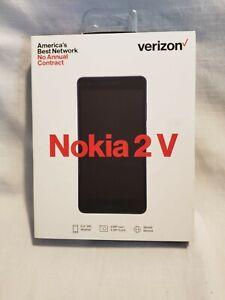 New Verizon Wireless Nokia 2V Prepaid Smartphone - Blue / Silver - SEALED